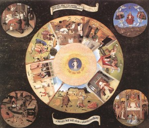 Hieronymus Bosch: Table of the Mortal Sins / The Seven Deadly Sins and the Four Last Things